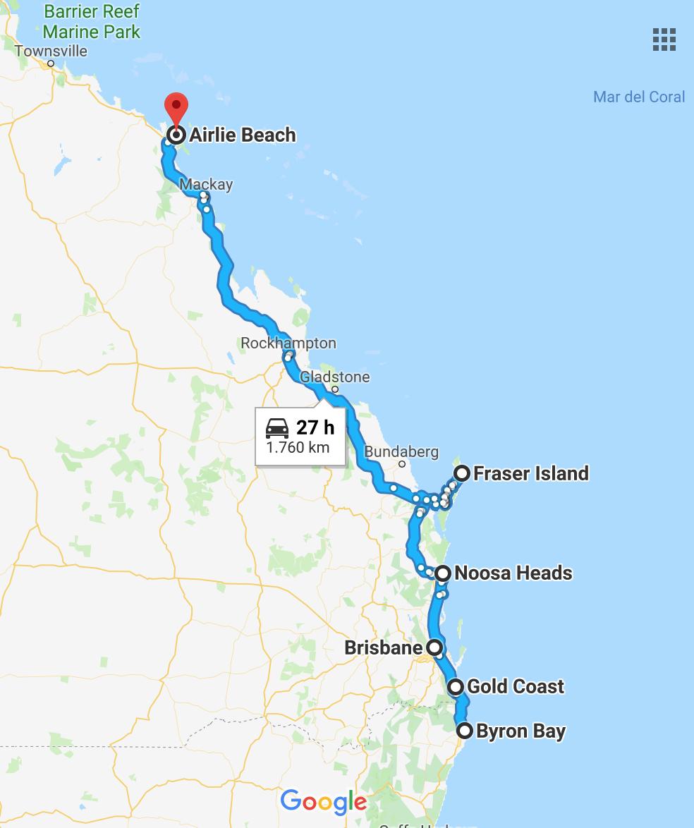 ruta en coche por australia